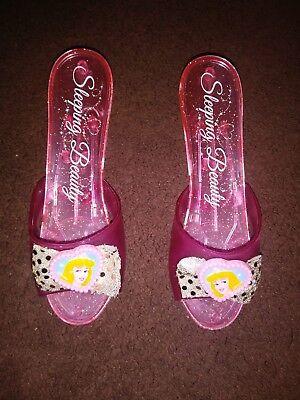 Disney Princess Sleeping Beauty Pink Sparkle Costume Dress-up Play Shoes - Disney Princess Play Shoes