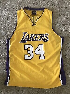 Vintage NBA Los Angeles Lakers Shaquille O'Neal 34 Basketball Jersey Size XL