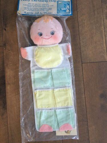 Vintage Plakie Baby Dressing Bag Toy Accessory  Holder w Pockets NIP Blonde CUTE
