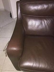 Couch Italian leather very good condition Fairfield Fairfield Area Preview