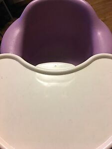 Good condition purple bamboo chair