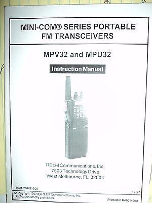 Mini-com Mpu32 Mpv32 Instruction Manual Mp Series Radios Relm