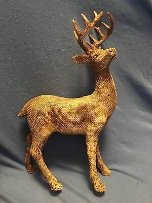 Fiberglass Deer (14-Point BUCK Fiberglass Statuette Deer Hunting Trophy Rack Man Cave Cabin)