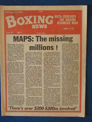 Boxing News Magazine   13 2 81   Maps Cover