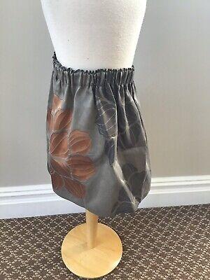 La Bottega Do Giorgia Grey Floral Skirt 10 Nwt