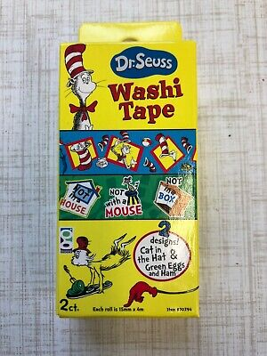 Dr Seuss Washi Tape Green Eggs & Ham Teacher Planner Supply Party Invites Cards