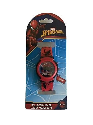 Marvel Accutime SPIDERMAN Wrist Watch Youth Boys Girls Teen Flashing LCD NEW