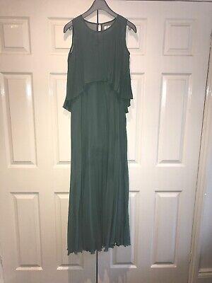 Jovonna London Green Pleated Dress Size 8