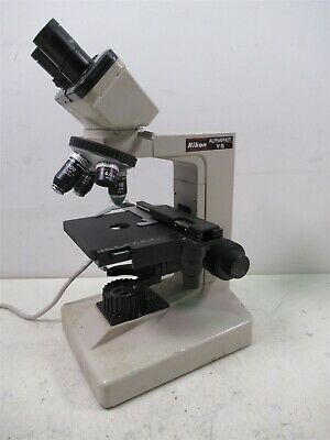 Nikon Alphaphot Ys Binocular Microscope W 4 Objective Lenses Eyepieces