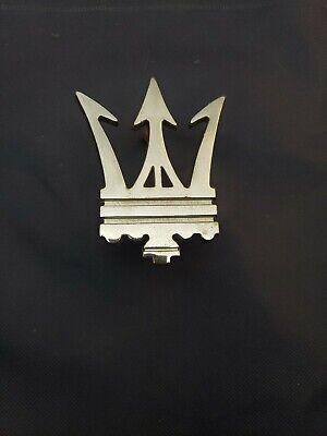 MASERATI OEM Bi Turbo BiTurbo Parliament Trident Grille Bumper Emblem Logo Badge
