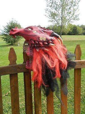 Brimstone Dragon Premier Mask Halloween Costume Seasons Visions Deluxe Latex](Premier Halloween Costumes)