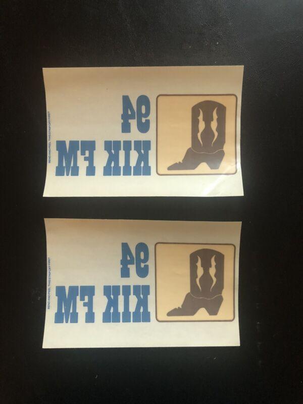 KIK 94 FM Country Music Radio Window Decals Stickers