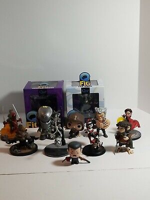 Huge 12 Piece Q-Fig + Extra Lot Includes Everything Pictured Rare Pieces Galore!