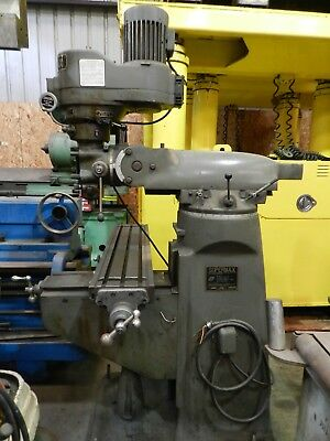 83 Supermax Bridgeport Type Mill Model 1-12 Vs Sn 1210738 9 X 42 Table