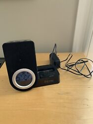 iHome iP41 Clock Radio Dual Alarm and Docking station for iPod Charger - Black