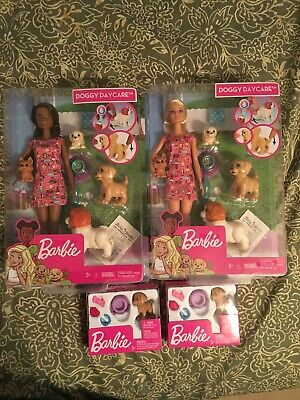 2 Barbie Doggy Daycare Doll & Pets. And 2 Puppy With Accessories NEW
