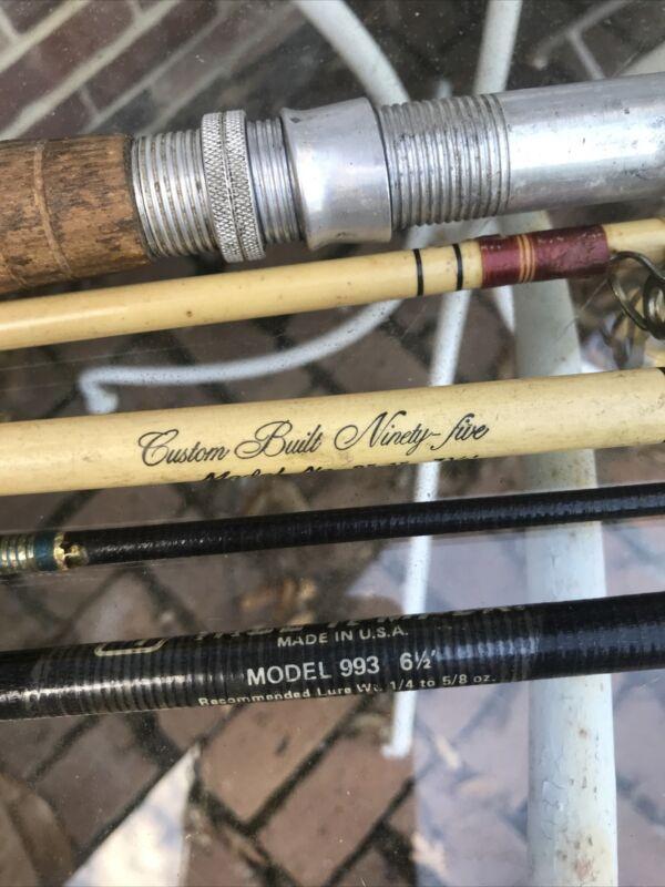 3 Old True Temper Fishing Rods