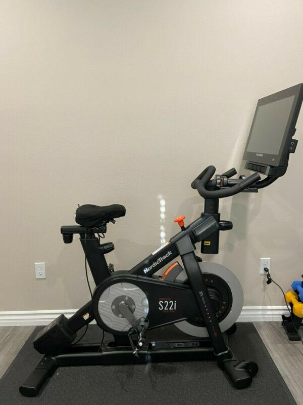 """NordicTrack Commercial S22i Studio cycle w/ 22"""" touchscreen display"""