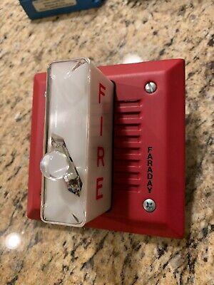 Faraday 5386-w Audible Fire Alarm Hornstrobe Spl75dba