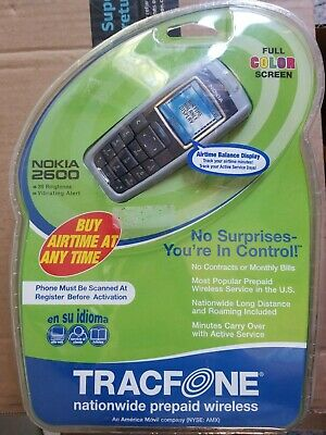 Original Nokia 2600 Cell Phone Complete TracFone New, Sealed!