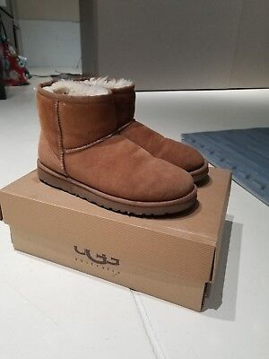 Ugg Classic Mini Chestnut Brown Boots  7 7.5 Nordstroms With Box for sale  Shipping to Canada