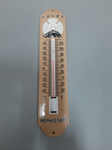 CLASSIC 12 X 3 INCH VOLKSWAGON WALL THERMOMETER
