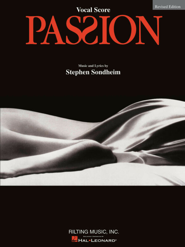 Passion The Musical Vocal Score Revised Sheet Music Stephen Sondheim Book