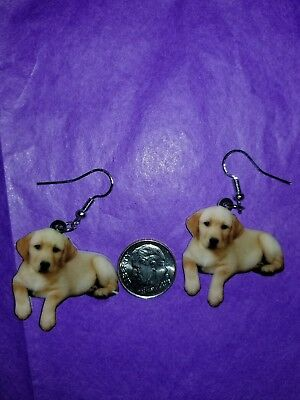 Golden Retriever Jewelry (Golden Retriever Dog lightweight earrings  jewelry FREE SHIPPING Design 1of 2 )