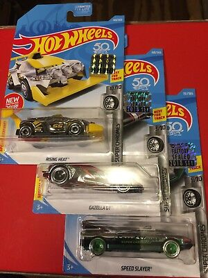 HW HOT WHEELS 2017 HW SUPER CHROMES #5//10 SPEED SLAYER HOTWHEELS VHTF
