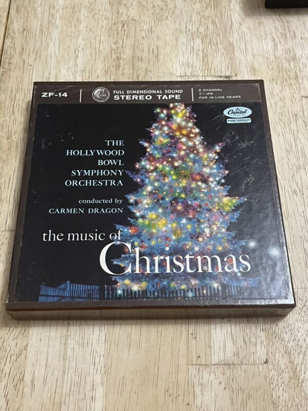 The Hollywood Bowl The Music Of Christmas Reel To Reel Tape Capitol ZF-14 VG+