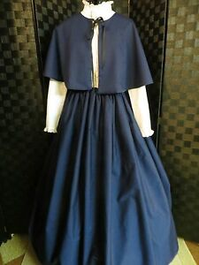 Civil War/Victorian Dress, Skirt, Cape Dickens