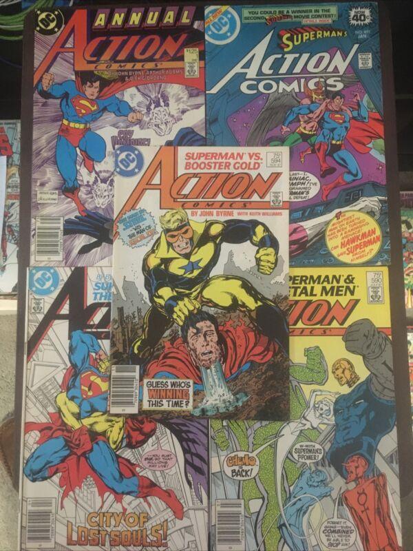 x5 action comics lot