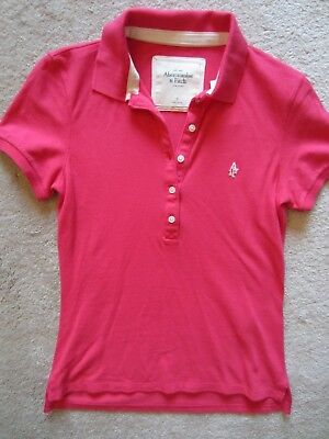 WOMEN ABERCROMBIE & FITCH A&F PINK POLO SHIRT TSHIRT KNIT TOP SMALL S NEW NWT for sale  Shipping to India