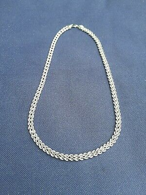 9ct white gold Italian chain necklace jewellery hallmarked 7.7 grams not scrap