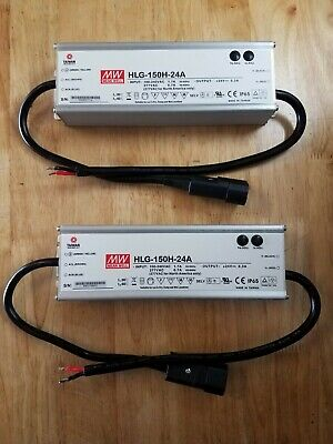 2mean Well Hlg-150h-24a Led Driver Power Supply With Preinstalled Power Cord