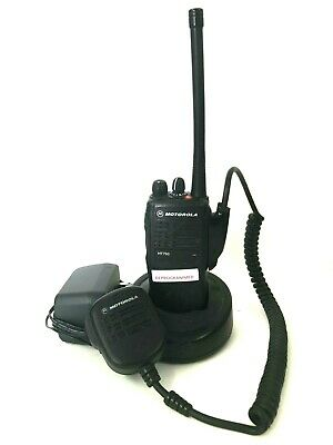 Motorola Ht750 136-174 Mhz Vhf 16 Ch Two Way Radio Aah25kdc9aa3an W Extras