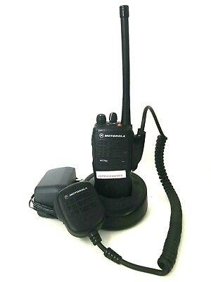 Motorola Ht750 136-174 Mhz Vhf 16 Ch Two Way Radio Aah25kdc9aa3an W Extras