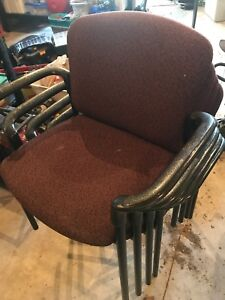 Cloth stackable chairs / $25 each
