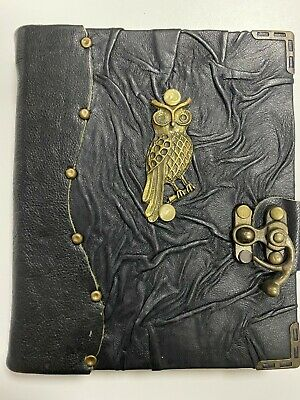Medium (18 x15cm) Handmade Vintage Leather Journal / Notebook / Diary - Black