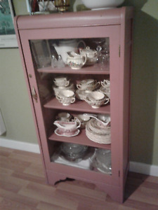 Antique china cabinet and storage cabinet for sale
