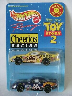 Toy Story 2 Cheerios Racing Nascar 2 Cars Hot Wheels Racing 1:64 Special Edition
