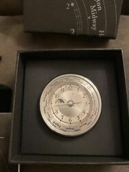Mini World Time Alarm Clock Horloge International Restoration Hardware NIB