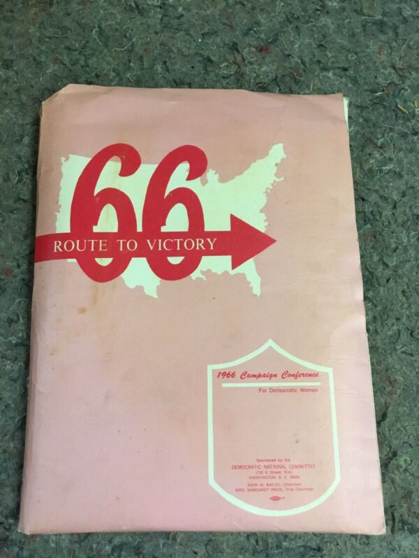 1966 Campagn Conference For Democratic Women-Folder With Ephemera