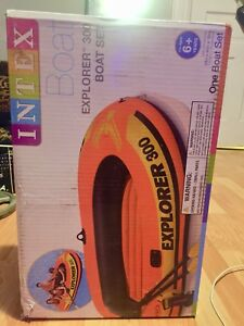 Inflatable Air BOAT & Paddles!!  fits 3 people