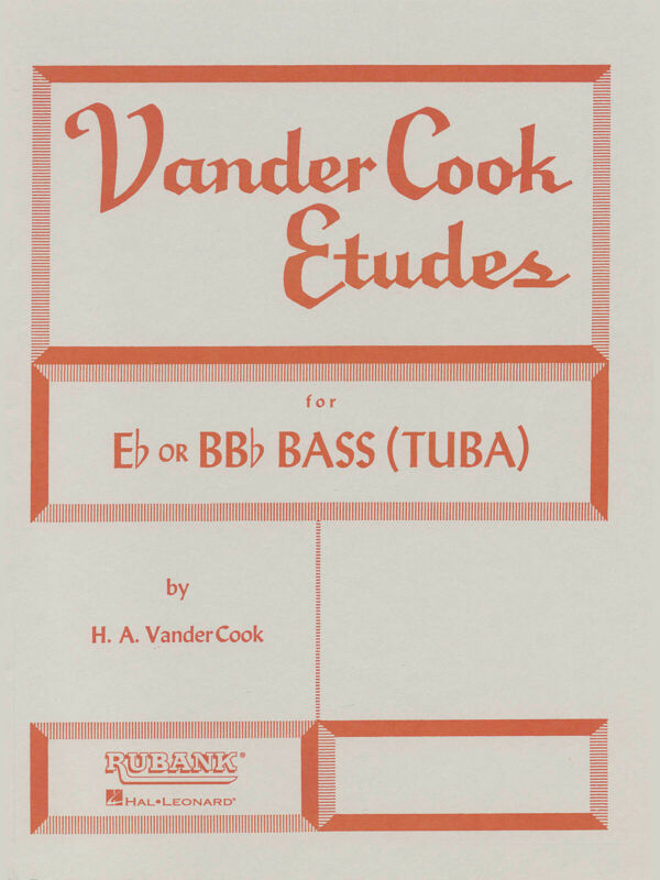 Vandercook Etudes for Eb BBb Bass Tuba Technique Scales Rubank Method Book