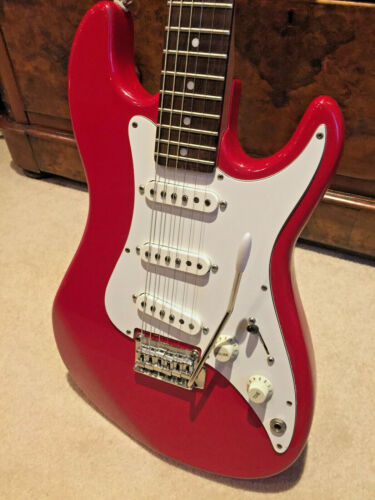 1989 Fender Squier BULLET Stratocaster, made in Korea, with good padded bag