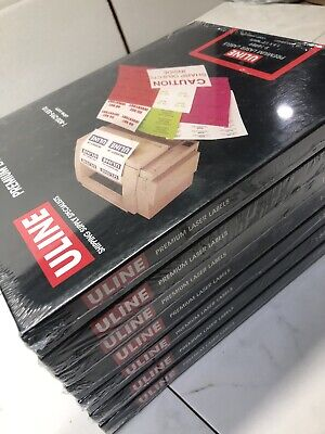 Uline Premium Laser Labels 1.5 X 12 White 10000 Labels Per Box