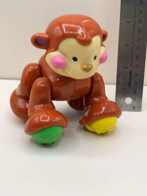 "Fisher Price Amazing Animals MONKEY 5"" Plastic Toy w/ Sound"