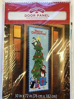 Merry Xmas winter door cover penguin 30
