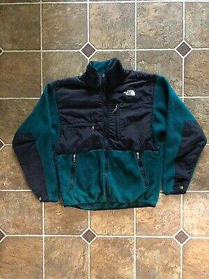 Vintage The North Face Denali Fleece Jacket Mens Size M Green Black
